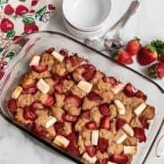 Baked Cream Cheese Strawberry Cobbler