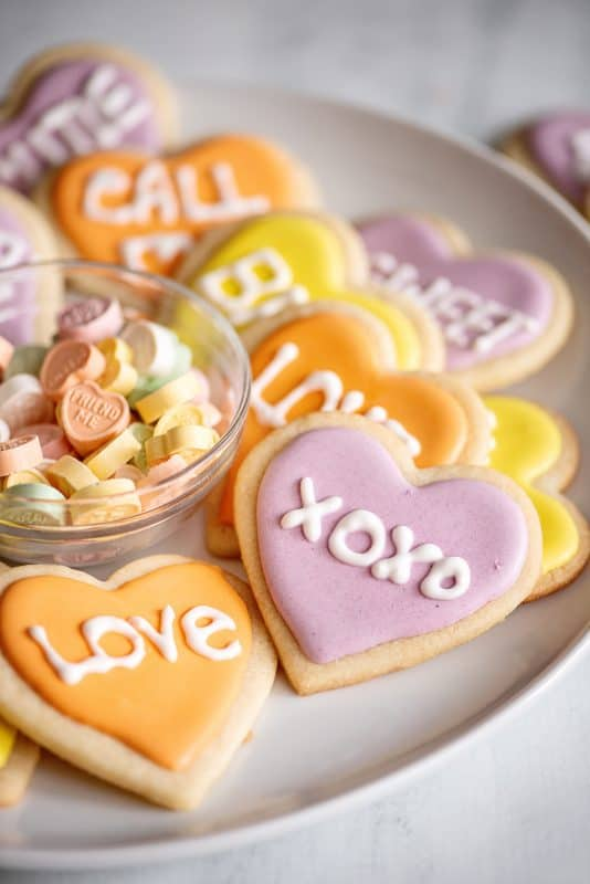 Valentine Heart Shaped sugar cookies