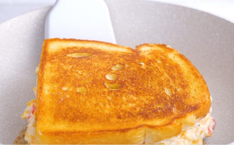 Pimento cheese sandwich grilled brown both sides