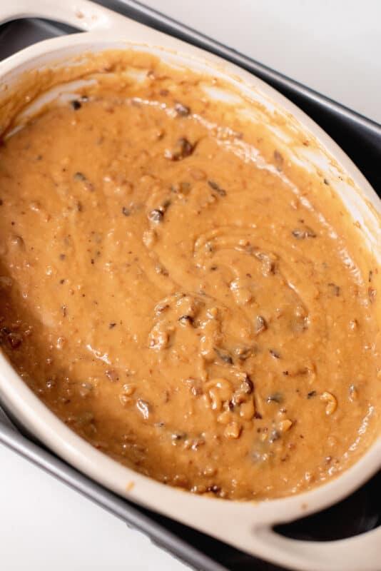 take foil off the dulce de leche after baking