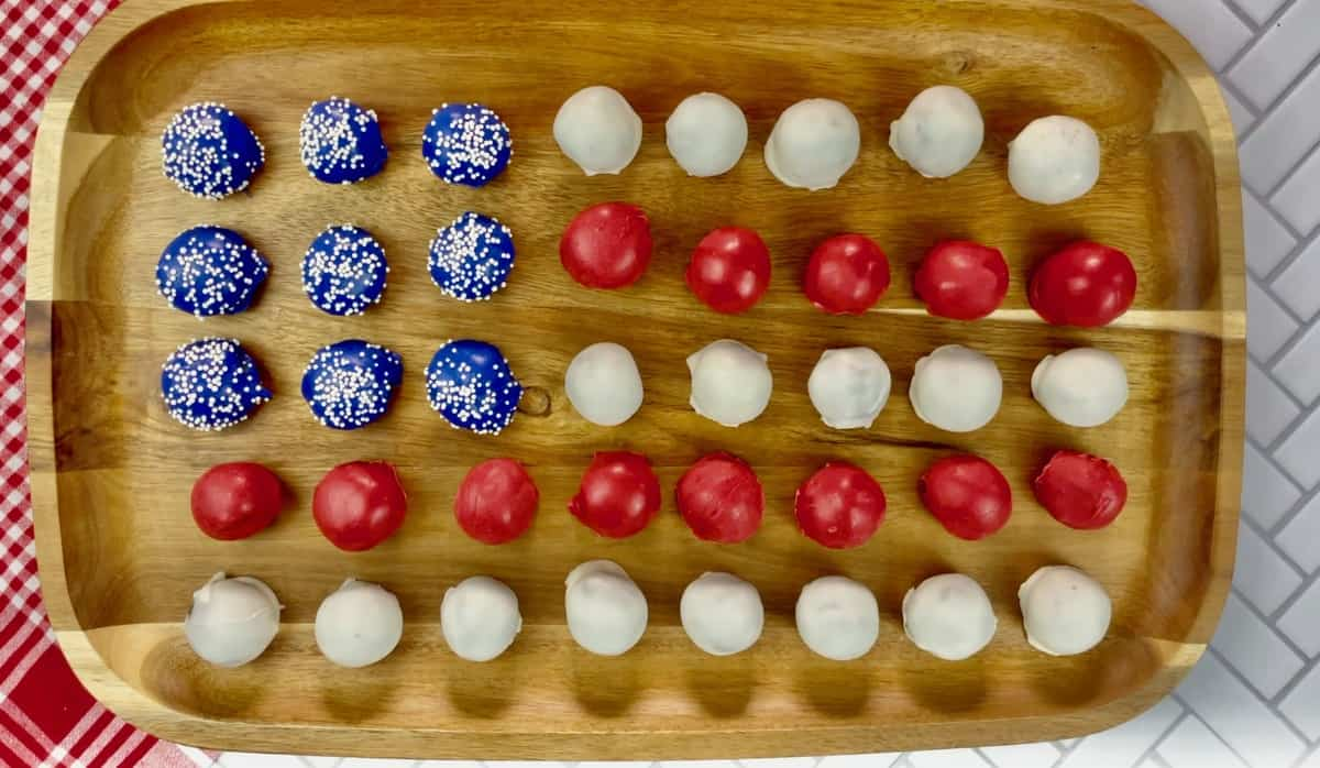 4th of July Oreo Balls