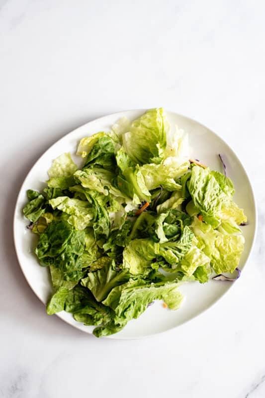 arrange the lettuce the way you want it