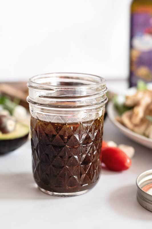 cover and store the rest of the balsamic glaze in the refrigerator