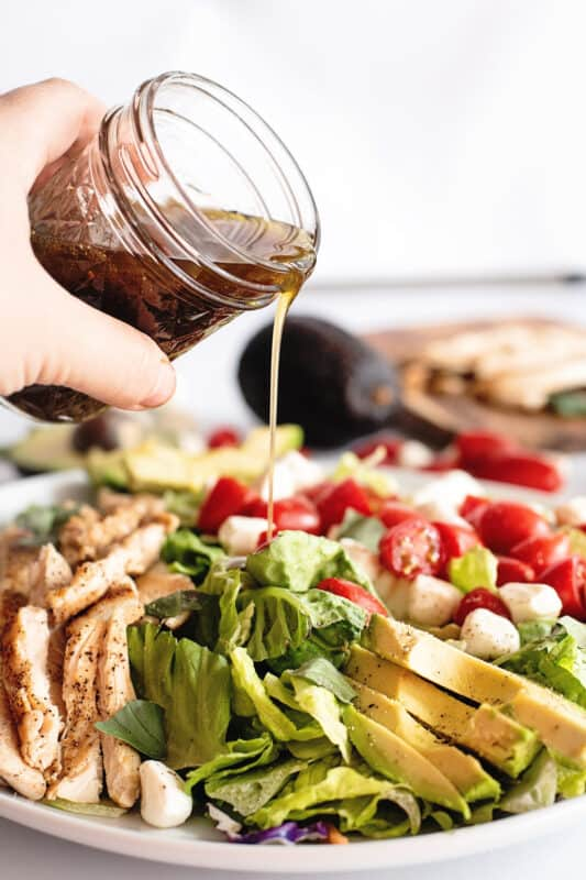 shake well and refrigerate or drizzle onto the salad