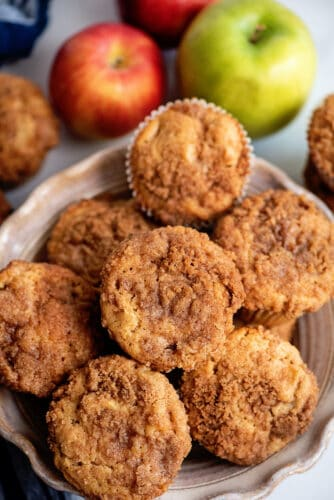 Bowl of apple pie muffins