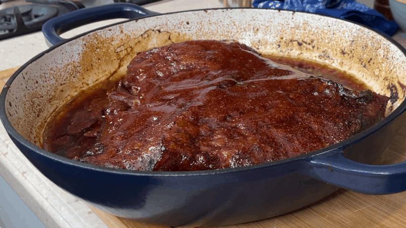 Finished beef brisket
