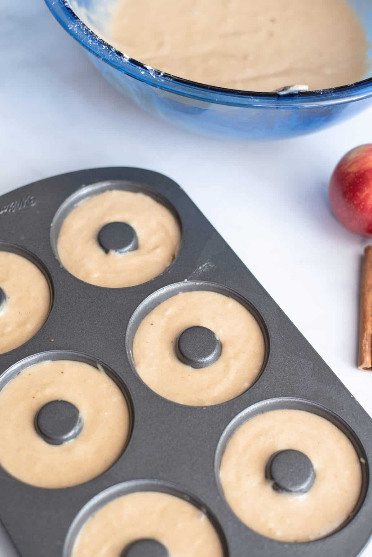 Add mixture to donut pan.