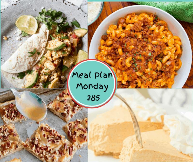 Meal Plan Monday 285