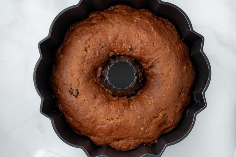 Baked sweet potato cake.